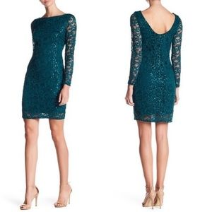 NEW Marina Sequin Lace Long Sleeve Sheath Dress 🌿